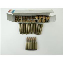 6.5MM AMMO ON STRIPPER CLIPS, 7.5MM AMMO, 303 BLANKS
