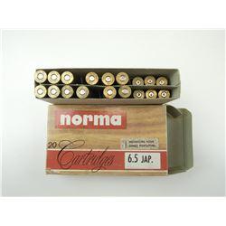 NORMA 6.5 JAP AMMO, BRASS