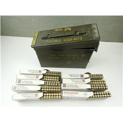 223 REMINGTON RELOADED AMMO, IN METAL AMMO TIN