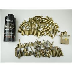 AMMO ASSORTED, BRASS CASES