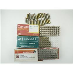38 SPECIAL RELOADED AMMO SPL + P, BRASS