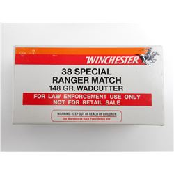 WINCHESTER RANGER MATCH 38 SP AMMO
