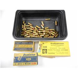 32 S & W, 32 COLT ASSORTED AMMO