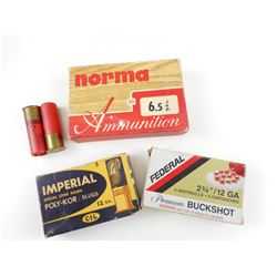 SHOT GUN SHELLS, AND 6.5 JAP AMMO