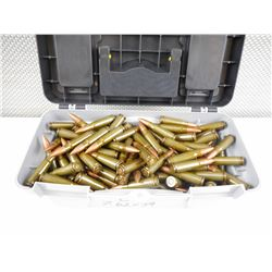 7.62 X 39 AMMO, IN PLASTIC CASE