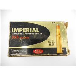 IMPERIAL 303 SAVAGE/30 W.C.F. AMMO