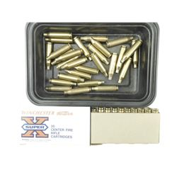 243 WIN ONCE FIRED BRASS CASES, PRIMED