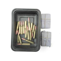 6.5 X 55 SWEDISH AMMO, WITH WOODEN BULLETS FOR TRAINING