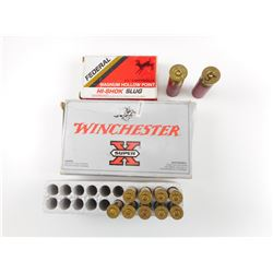 7MM REM MAG AMMO, 12 GA SLUGS