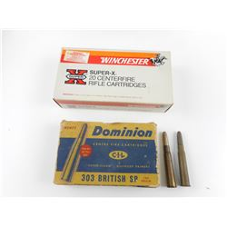 303 BRITISH AMMO, ASSORTED