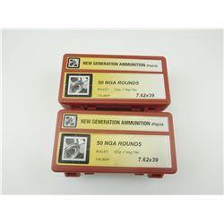 7.62 X 39 AMMO, IN PLASTIC CASES
