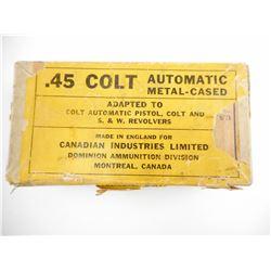 45 COLT AUTOMATIC AMMO