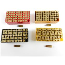 9MM ASSORTED AMMO, IN PLASTIC CASES