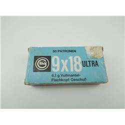 ULTRA 9 X 18 AMMO