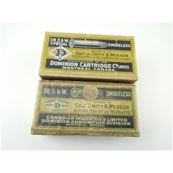 38 S & W ASSORTED AMMO