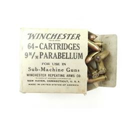 WINCHESTER REPEATING ARMS CO. 9 X 19MM PARABELLUM SMG AMMO