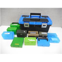 ASSORTED PLASTIC AMMO CASES, MASTERCRAFT PLASTIC TOOL KIT