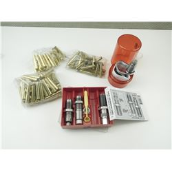 LEE 38-55 CAL RELOADING DIES, 38-55 BRASS CASES, W/EXTRA DIE