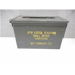 GREEN METAL AMMO TIN