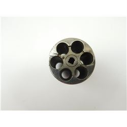 .38 CAL NICKLE PLATED CYLINDER FOR UNKNOWN REVOLVER