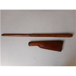 WOODEN GUN STOCK SET FOR SWEDISH / REMINGTON NO 1 ROLLING BLOCK