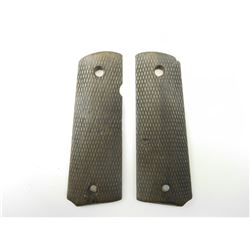 EARLY COLT WOODEN GUN GRIPS FOR GOVERNMENT MODEL .45 ACP SEMI-AUTO