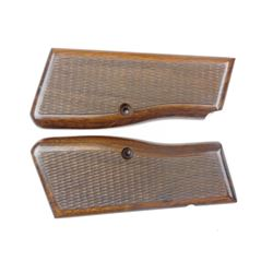WOODEN GRIPS FOR BROWNING HIGH POWER 9MM PISTOL