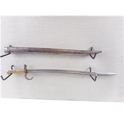 FRENCH MODEL 1866 CHASSEPOT YATAGHAN BAYONET WITH MATCHING SCABBARD