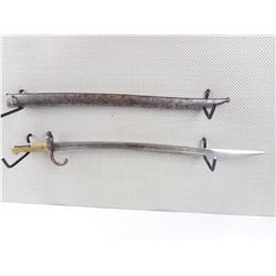 FRENCH MODEL 1866 CHASSEPOT YATAGHAN BAYONET WITH SCABBARD