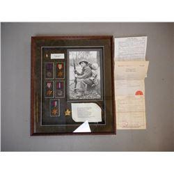 WWII VETERAN LANCE CORPORAL KENNETH EARL SHADOW BOX MEMORIAL