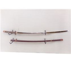 WWII ERA JAPANESE OFFICER'S SWORD WITH SCABBARD