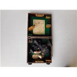 ANTIQUE HUSUN ROYAL NAVY SEXTANT WITH ORIGINAL BOX