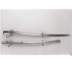 BRITISH 1853 PATTERN CAVALRY SWORD WITH SCABBARD