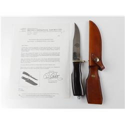 COMMEMORATIVE WILKINSON / TORONTO POLICE SKINNING KNIFE WITH SHEATH AND PAPERWORK