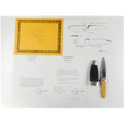 BOLLENBACH CUSTOM KNIVES/ C.K.C.C WITH SHEATH & PAPERWORK