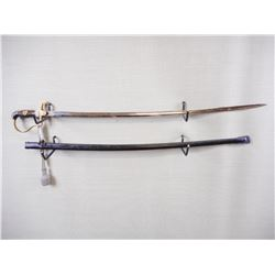 WWII GERMAN ARMY OFFICIALS SWORD WITH SCABBARD