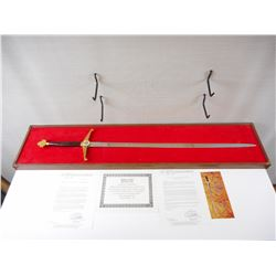 COMMEMORATIVE WILKINSON ROYAL CANADIAN OLYMPIC SWORD WITH PAPERWORK