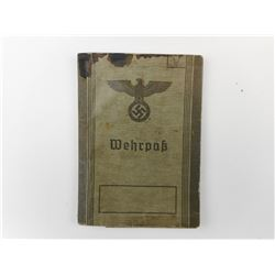 WWII GERMAN SERVICE BOOK- WEHRPASS