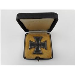 WWII GERMAN 1939 IRON CROSS 1ST CLASS WITH CASE