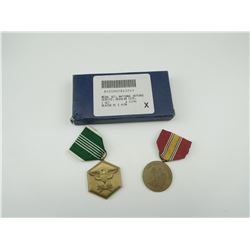 U.S. MILITARY MEDALS WITH RIBBONS