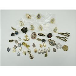 ASSORTED PINS INCLUDES MILITARY