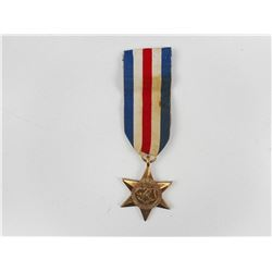 BRITISH/CANADIAN FRANCE & GERMAN STAR MEDAL WITH RIBBON