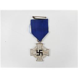 WWII GERMAN FAITHFUL SERVICE CROSS WITH RIBBON
