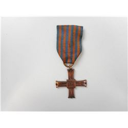 WWII POLISH MONTE CASSINO 1944 CAMPAIGN CROSS WITH RIBBON