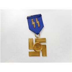 WWII GERMAN SS 25 YEAR MEDAL WITH RIBBON