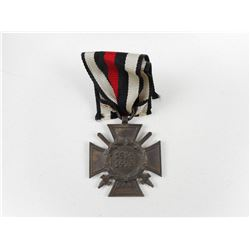 WWI GERMAN HINDERBURG CROSS WITH SWORDS & RIBBON