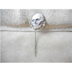 GERMAN SS SKULL TIE PIN