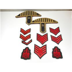 ASSORTED CANADIAN CLOTH BADGES & BANDSMAN EPAULETTES