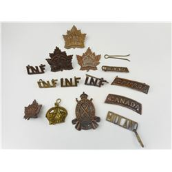 WWI CANADIAN BADGE & TITLES