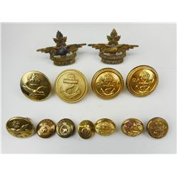 ASSORTED CANADIAN MILITARY BUTTONS
